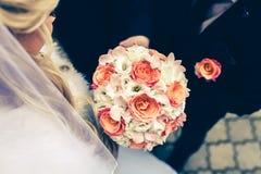 Hochzeit blüht Blumenstrauß Lizenzfreies Stockfoto