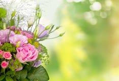 Hochzeit, Blume, Blumenstrauß Stockbild