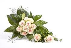 Hochzeit Blumenstrauß und Corsage Stockbilder