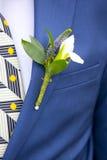 Hochzeit Boutonniere des Bräutigams Lizenzfreie Stockbilder