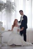 Hochzeit, Braut und Bräutigam, Liebe stockfotografie