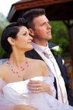 Hochzeit: Braut und Bräutigam Stockfotografie