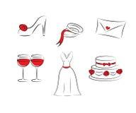 Hochzeit clipart Lizenzfreie Stockfotos