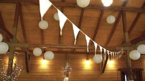 Hochzeit floristics in einer rustikalen Art stock video
