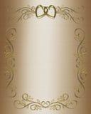 Hochzeit oder Party-Einladungs-Satin Lizenzfreies Stockbild