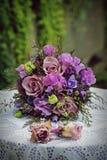 Hochzeit photoshoot Blumenstrauß Stockfoto