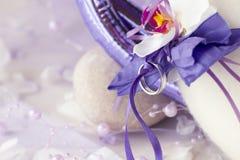 Hochzeit Ring As eine Dekoration lizenzfreie stockbilder