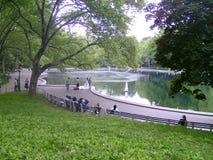 Hochzeit stellt Central Park dar Lizenzfreies Stockbild