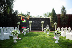 Hochzeit Szene im Freien Stockbild