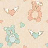 Hochzeit-Teddybären stock abbildung