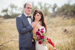 Hochzeit und Liebesgeschichte in der Natur Stockfotografie