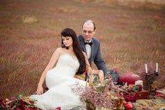 Hochzeit und Liebesgeschichte in der Natur Lizenzfreie Stockbilder