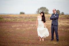 Hochzeit und Liebesgeschichte in der Natur Lizenzfreies Stockfoto