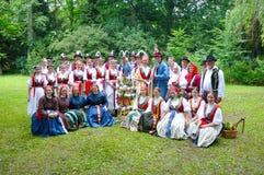 Hochzeit von Straznice, alle Volksgruppe Stockbilder