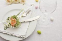 Hochzeits-Abendessen Stockbild