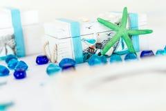 Hochzeits-Abfertigungsschalter-Dekorationen Lizenzfreie Stockfotos