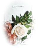 Hochzeits-Ansage Stockfoto