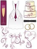 Hochzeits-Ansammlung Stockfoto