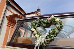 Hochzeits-Auto Stockbild