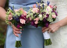 Hochzeits-Blumensträuße stockfotos