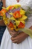 Hochzeits-Braut-Blumenstrauß Stockfoto