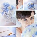 Hochzeits-Collage Stockfotos