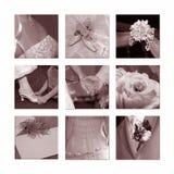 Hochzeits-Collage Lizenzfreie Stockfotografie