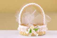 Hochzeits-Dekorationstauben Stockfoto