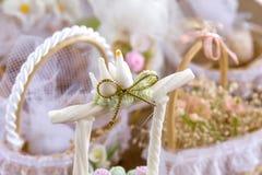 Hochzeits-Dekorationstauben Lizenzfreie Stockbilder