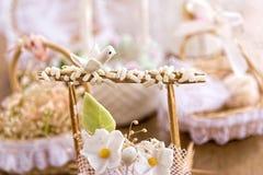 Hochzeits-Dekorationstauben Lizenzfreies Stockfoto