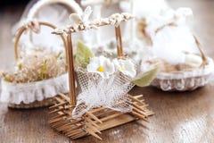 Hochzeits-Dekorationstauben Stockfotografie