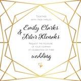 Hochzeits-Einladung, laden Kartendesign mit geometrischer Kunst Lin ein lizenzfreie abbildung