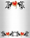 Hochzeits-Einladungs-elegante Ränder lizenzfreie abbildung