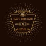 Hochzeits-Einladungs-Karte - Art Deco Style Stockbilder