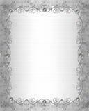 Hochzeits-Einladungs-Randsatin und -perlen vektor abbildung