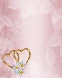 Hochzeits-Einladungs-RosaPlumeria Stockfotos