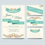 Hochzeits-Einladungs-Satz Lizenzfreie Stockfotografie