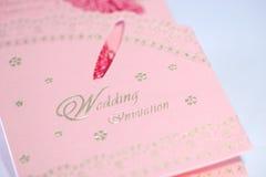 Hochzeits-Einladungskarte Stockfotos