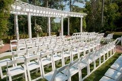 Hochzeits-Einrichtung im Freien Stockfotografie