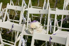 Hochzeits-Gang-Dekor Stockfotos