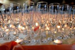 Hochzeits-Gläser Stockfoto