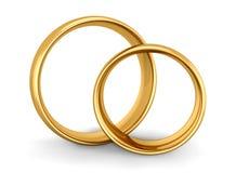 Hochzeits-Goldringe vektor abbildung