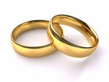Hochzeits-Goldringe stock abbildung
