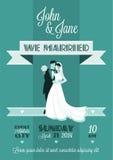 Hochzeits-Karte stock abbildung