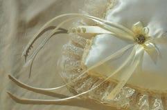 Hochzeits-Kissen stockfotografie