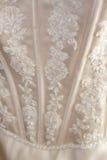 Hochzeits-Kleid-Detail Stockbilder
