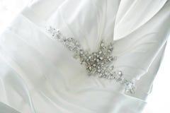 Hochzeits-Kleiderdetail Lizenzfreies Stockbild