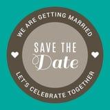 Hochzeits-Kreis-Grey Save The Date Vector-Bild Lizenzfreies Stockbild