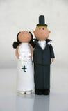 Hochzeits-Kuchen-Puppen Lizenzfreies Stockbild