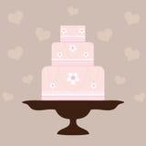 Hochzeits-Kuchen - Rosa stockfoto